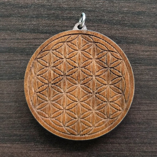Flower of Life in Walnut wood
