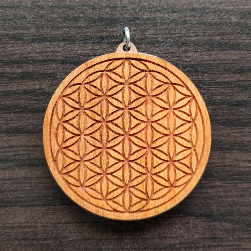 Flower of Life in Cherry wood