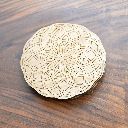 Tube Torus Seed of Life Drink Coasters