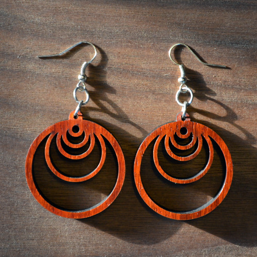 Fibonacci Orb Hardwood Earrings