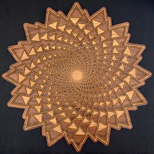 Organic Spiral Vortex Wall Art