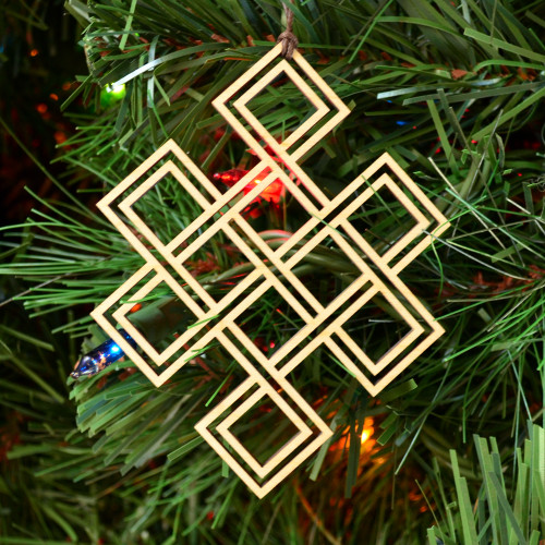 Endless Knot Ornament - Sacred Geometry - Laser Cut Wood