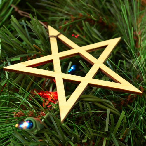 Pentagram Ornament - Sacred Geometry - Laser Cut Wood