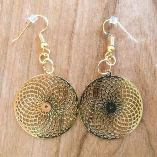 Tube Torus Earrings - 18 Karat Gold Plated