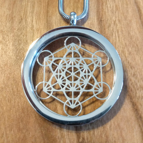 Metatrons Cube Pendant - Silver Plated Necklace