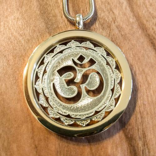 Om Pendant - 18 Karat Gold-Plated Necklace