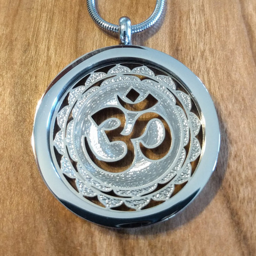 Om Pendant - Silver Plated Necklace