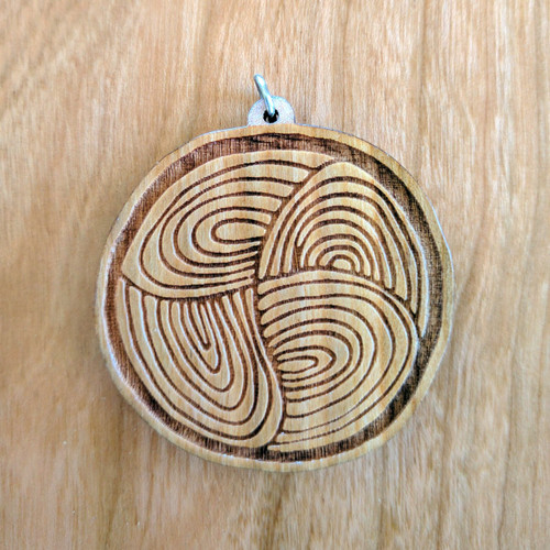 Swirl into the Abyss' on Cherry hardwood