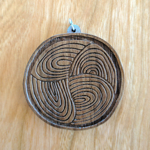 Swirl into the Abyss' on Walnut hardwood
