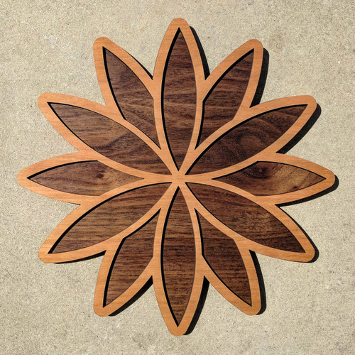 Seed Lotus Two Layer Wall Art