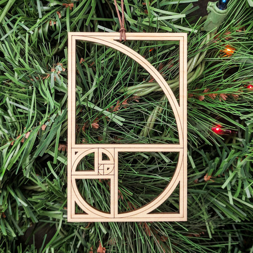 Fibonacci Sequence Ornament - Sacred Geometry - Laser Cut Wood