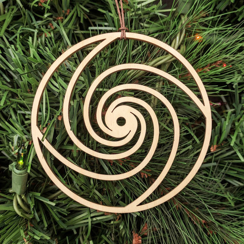 Fibonacci Vortex Ornament - Sacred Geometry - Laser Cut Wood