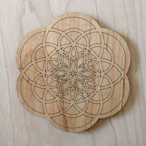 Flower of Creation Drink Coasters - Set of 4