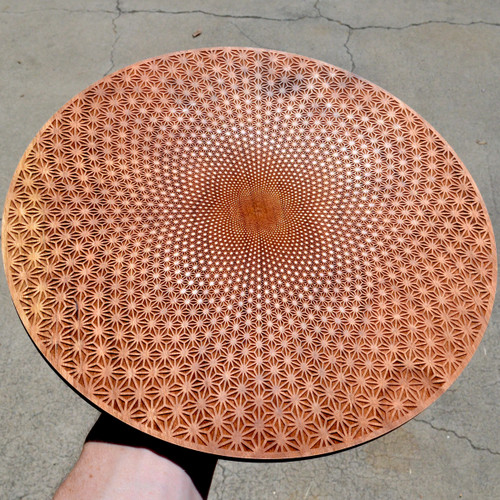 Asanoha Vortex - Cherry Hardwood Crystal Grid