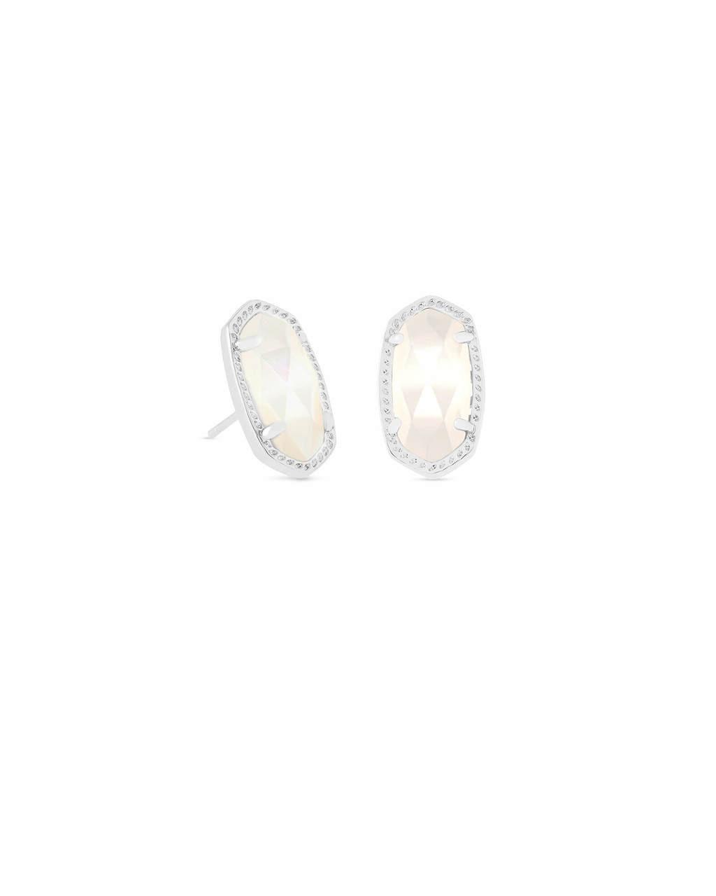 9b7dc4c83 Ellie Silver Stud Earrings In Ivory Pearl - Thompson's
