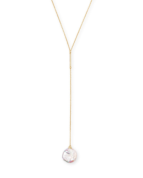 Andi Necklace Gold Baroque Pearl