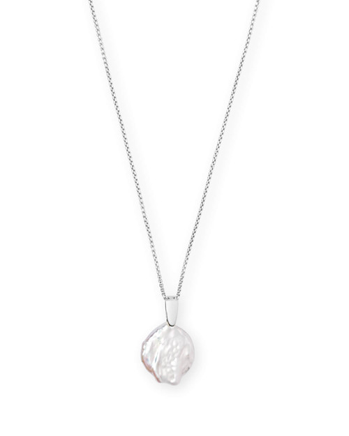 Priscilla Necklace Silver Baroque Pearl