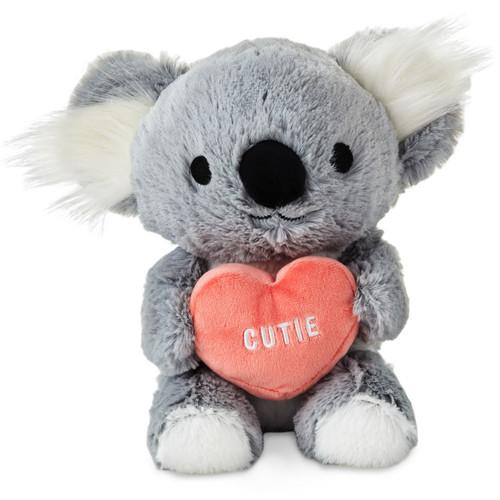 "Plush Koala With Pink ""Cutie"" Heart"