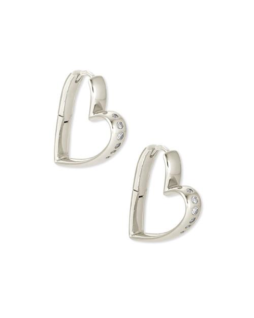 Ansley Small Silver Hoop Earring