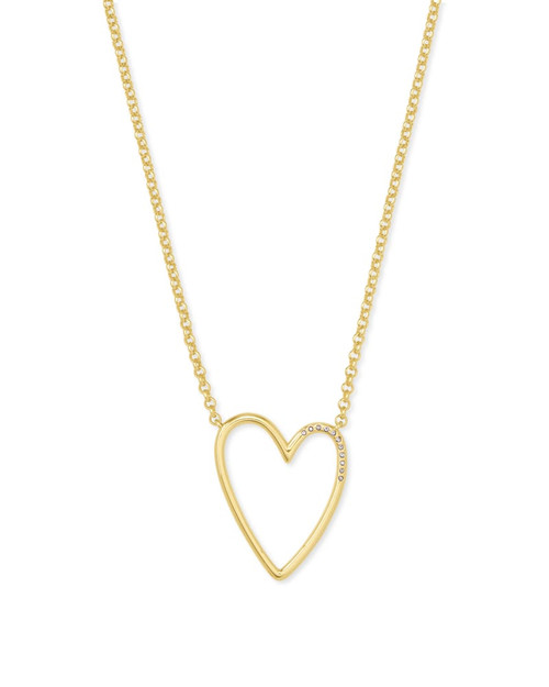 Ansley Gold Heart Necklace