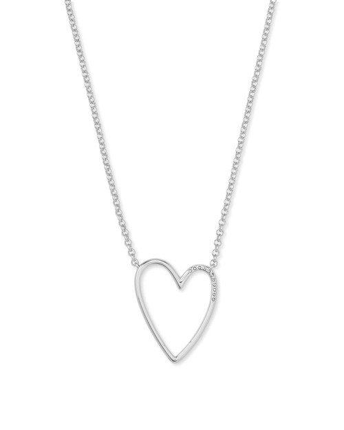 Ansley Silver Heart Necklace