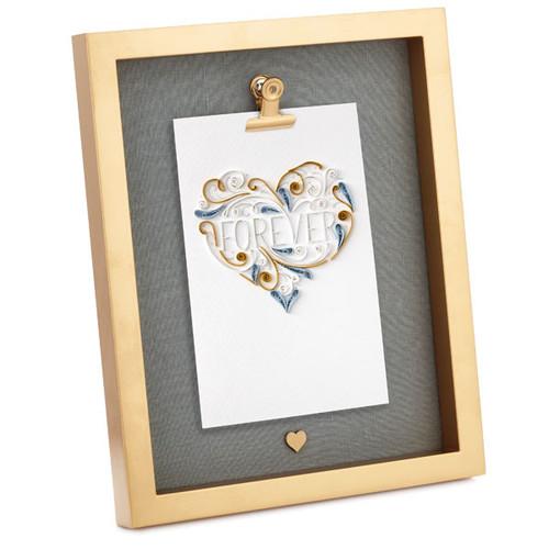 Frame Golden Heart Clip