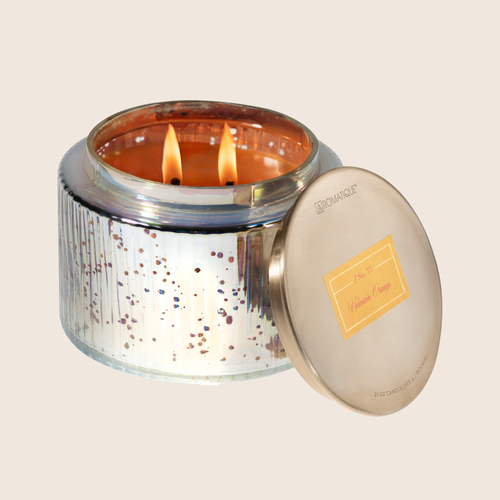 Orange Large Metallic Candle