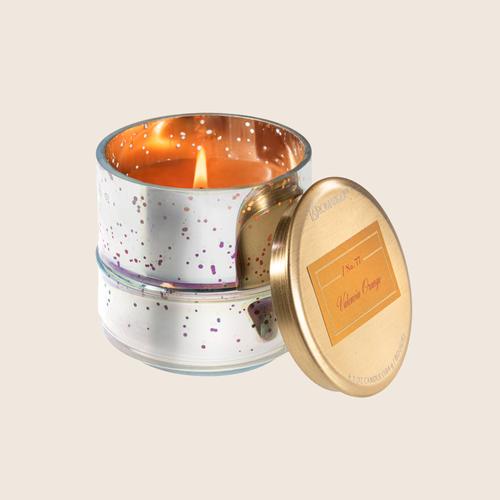 Orange Small Metallic Candle