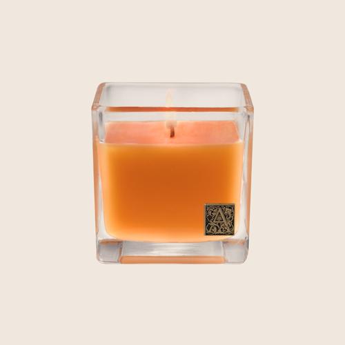 Orange Glass Cube Candle