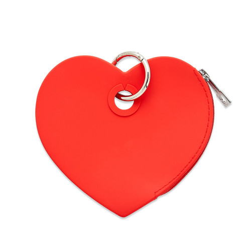 Silicone Red Heart Pouch