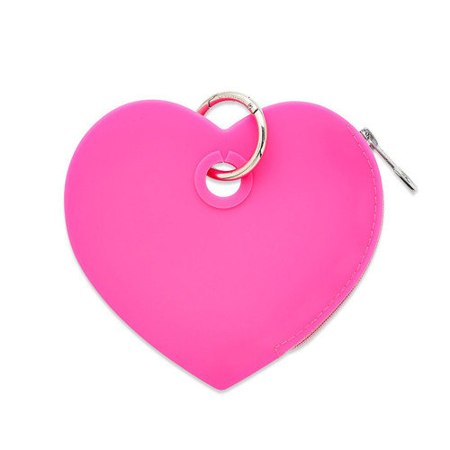 Silicone Pink Heart Pouch
