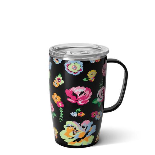 Fleur Noir Travel Mug 18 oz.