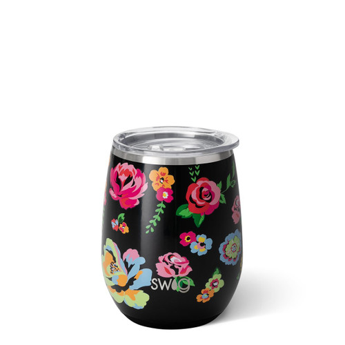 Fleur Noir Wine Cup 14 oz.