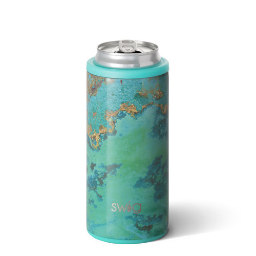 Copper Patina Skinny Can Cooler
