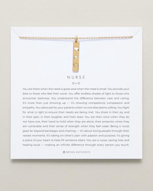 Nurse 14K Gold Necklace