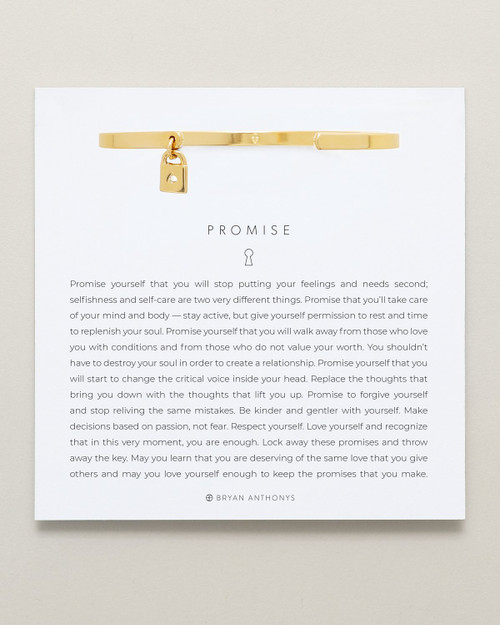 Promise Charm Cuff 14K Gold