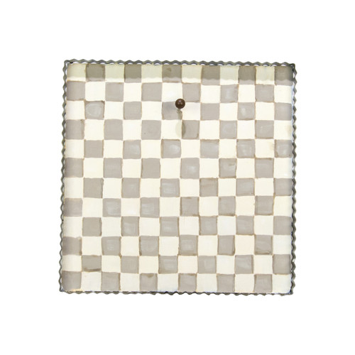 Putty Checkered Display Board