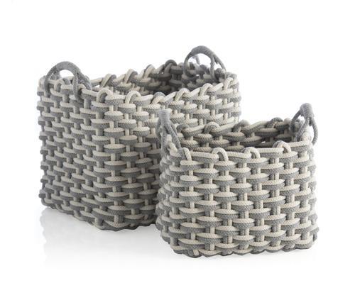 Large Gray Dharma Basket