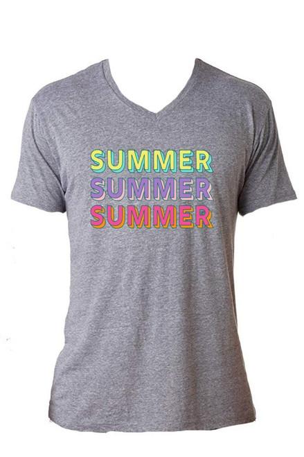 Summer Grey V Neck Shirt