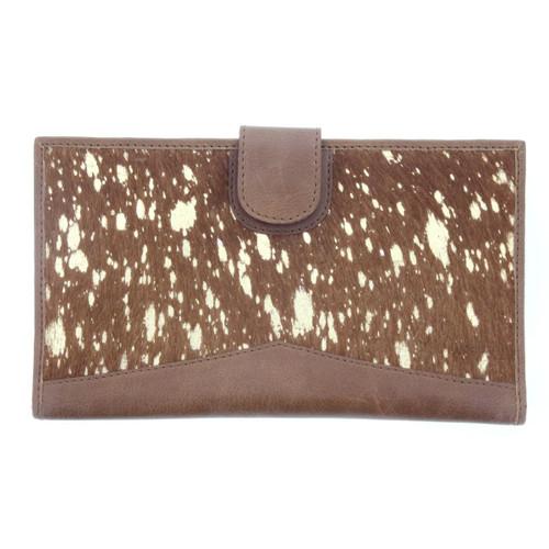 Bessie Wallet Gold Foil & Suede