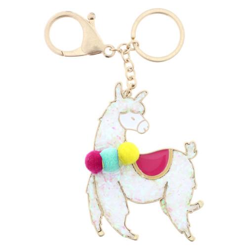 Confetti Llama Keychain