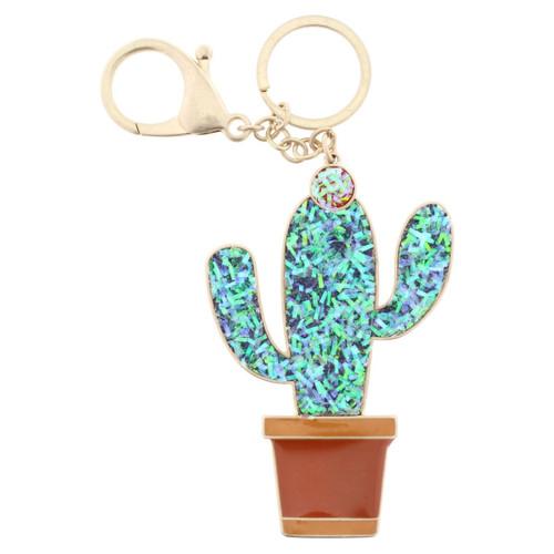 Confetti Cactus Keychain