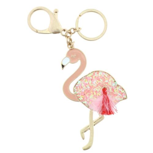 Confetti Flamingo Keychain