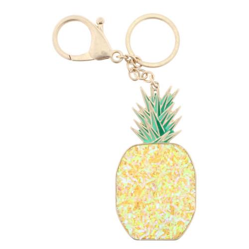 Confetti Pineapple Keychain