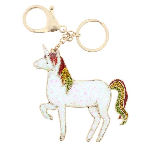 Confetti Unicorn Keychain