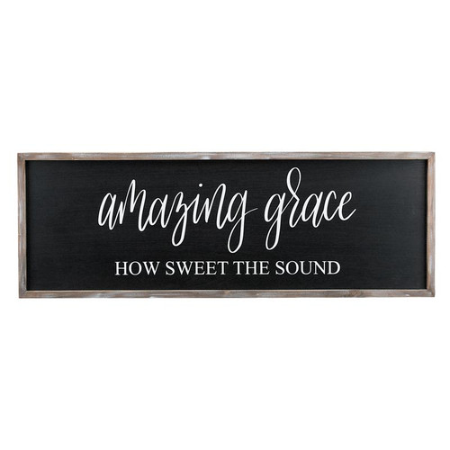Amazing Grace Framed Board Lg