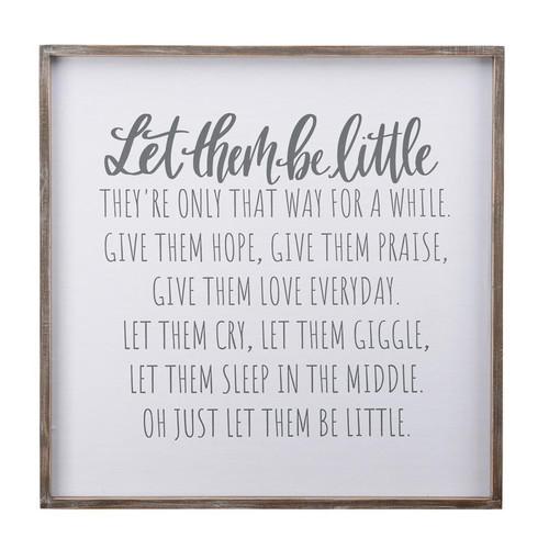 Let Them Be Little Framed Board