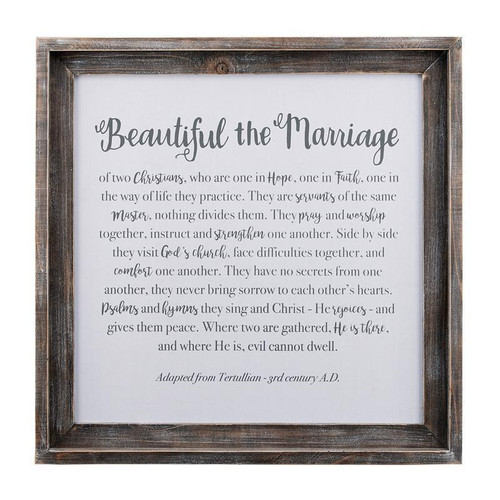 Beautiful The Marriage Framed Board