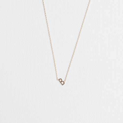 Gold B Necklace