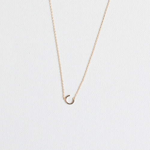 Gold C Necklace